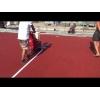 Разметка спортивной площадки по доступным ценам и в минимальные сроки Один из этапов подготовки игровой площадки к эксплуатации